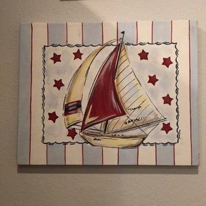 Nautical sailboat painting Renditions by Reesa